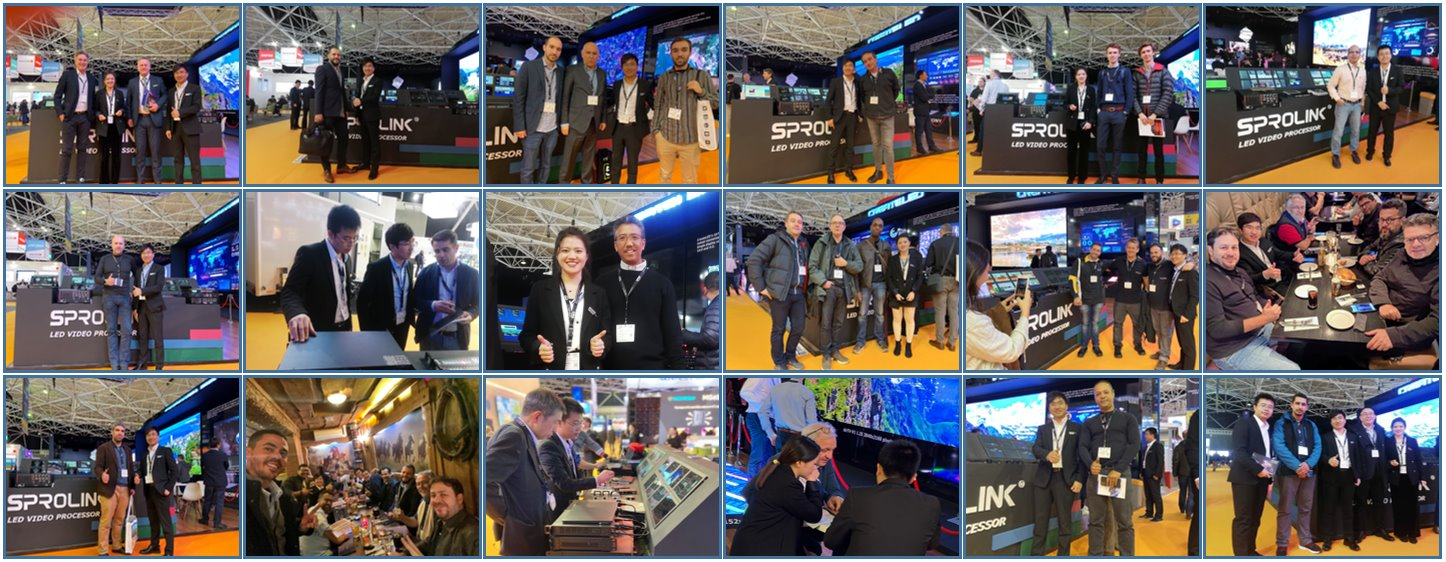 SPROLINK with customers in ISE2020